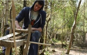 Bow making - teaching self sufficiency and resilience is an important part of the apprenticeship